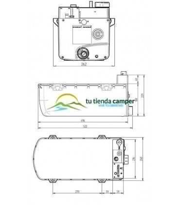 Boiler Whale exterior medidas